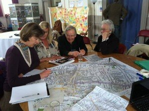 A picture of Lady Verulam at a Design Charrette